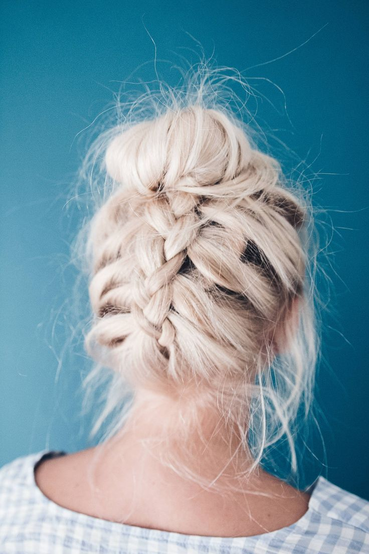 Easy Glam: The Upside Down French Braid