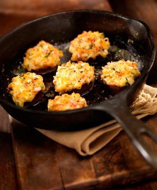 Light Stuffed Mushrooms Recipe — Dishmaps