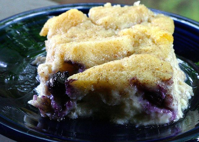 White Chocolate Blueberry Bread Pudding | Bread puddings/Rice Pudding ...