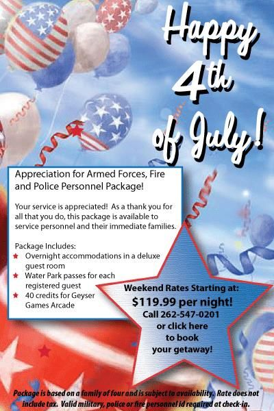 hotel deals for july 4th weekend