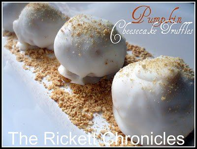 Pumpkin Cheesecake Truffles by Wende Rickett/The Rickett Chronicles