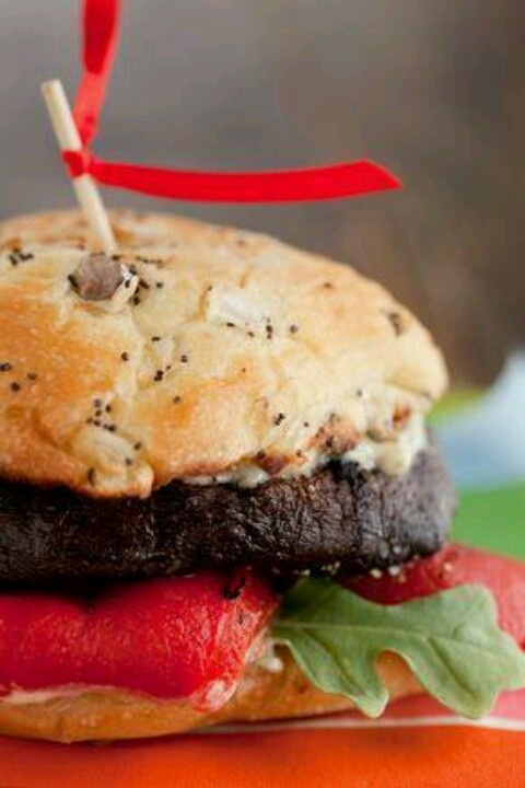 Portobello mushroom burger | recipes | Pinterest