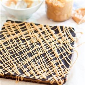 Triple Decker Peanut Butter Squares | Bon Appétit | Pinterest