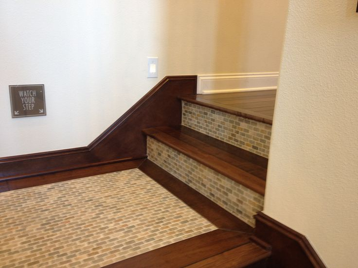 Tile On Stairs Landing Interior Design Pinterest How To Tile Interior Stairs