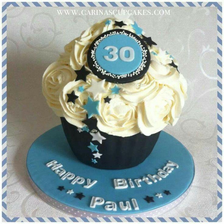Mans birthday cake.  GIANT CUPCAKES  Pinterest