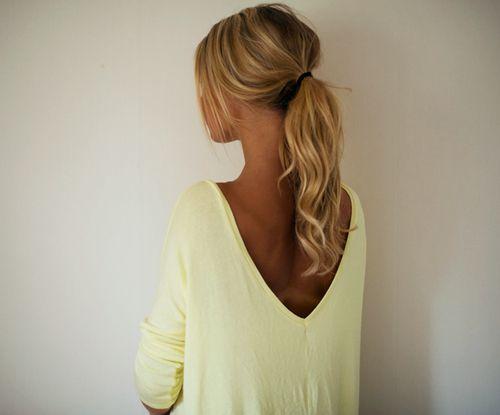 Perky ponytails.