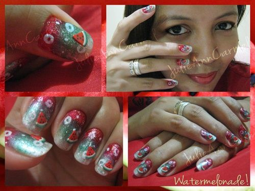 Watermelonade! - Nail Art | Cool Nails and Toes! | Pinterest
