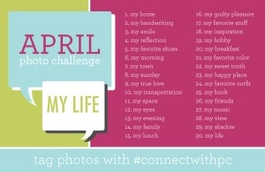 April photo challenge from Paper Coterie