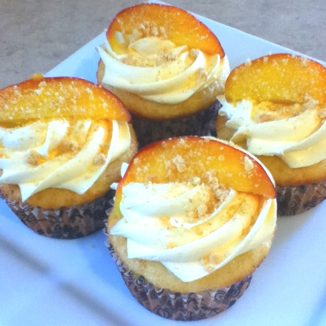 Peach Cobbler Cupcakes Recipe — Dishmaps