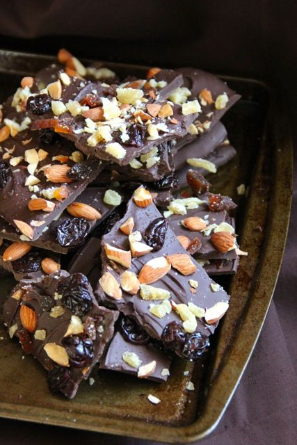 Sea Salted Fruit & Nut Chocolate Bark-making this for Christmas using ...