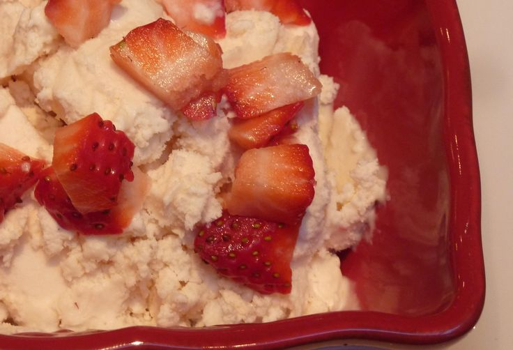 Luscious Honey Mascarpone Strawberry Ice Cream | Recipe