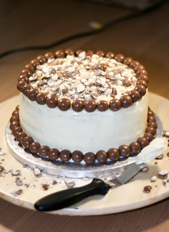 Chocolate-Malt Cake Recipe — Dishmaps