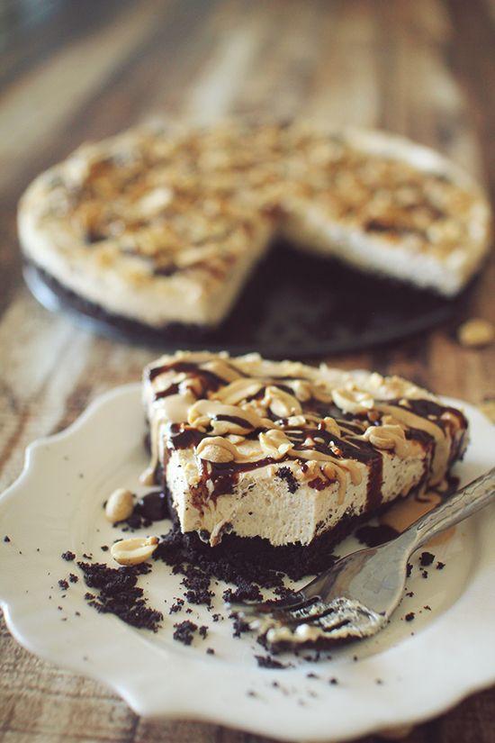 Skinny No Bake Peanut Butter Pie | Dashing Dish Recipes | Pinterest