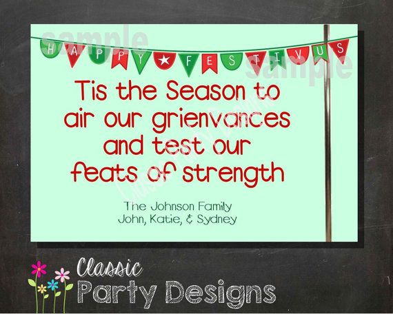 Happy Festivus Holiday Greeting Card by ClassicPartyDesigns, $5.00: pinterest.com/pin/104286547595438446