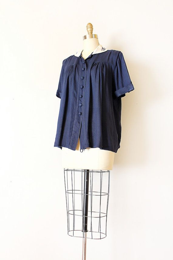 White Button Up Maternity Blouse 40