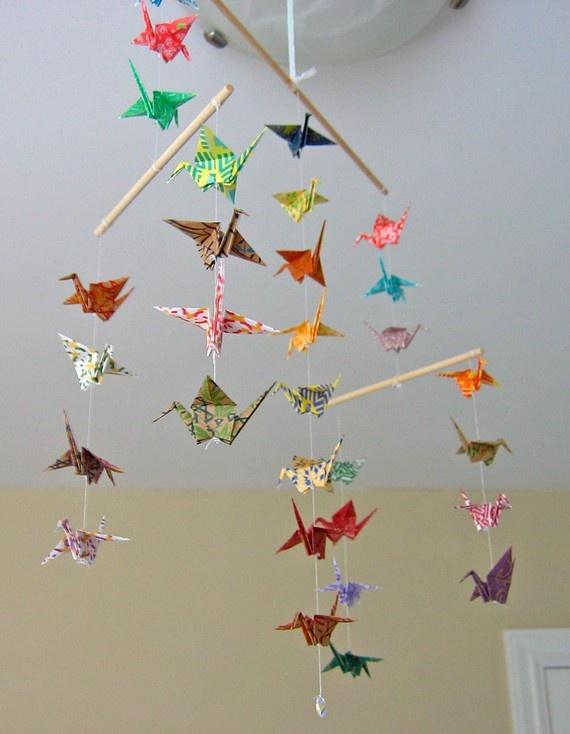 Origami crane mobile | Kids | Pinterest