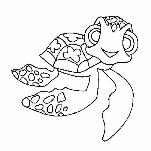 Mini Nemo Sea Turtle Coloring Page | Coloringpages | Pinterest
