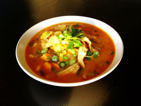 """Weil's recipe adapted from True Food - """"Sweet Potato Poblano Soup ..."""