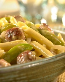 Cheddar Penne with Sausage & Peppers | Martha Stewart