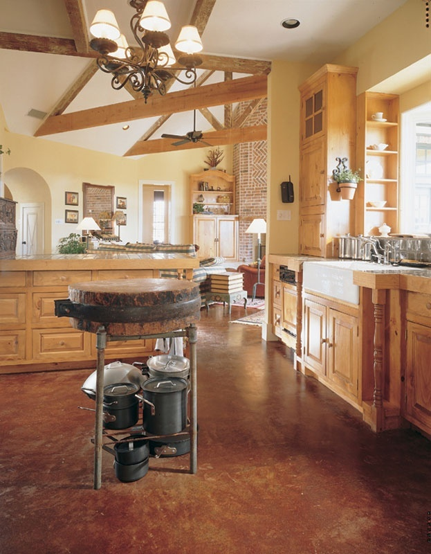 Comconcrete Kitchen Floor : Stained concrete kitchen floor.  For the Home  Pinterest