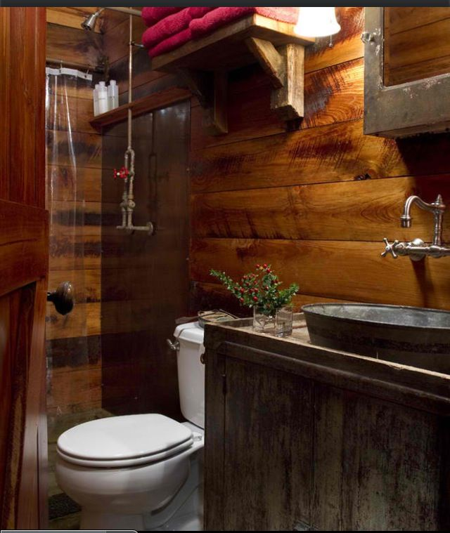 Bathroom w galvanized tub sink home amp do it yourself