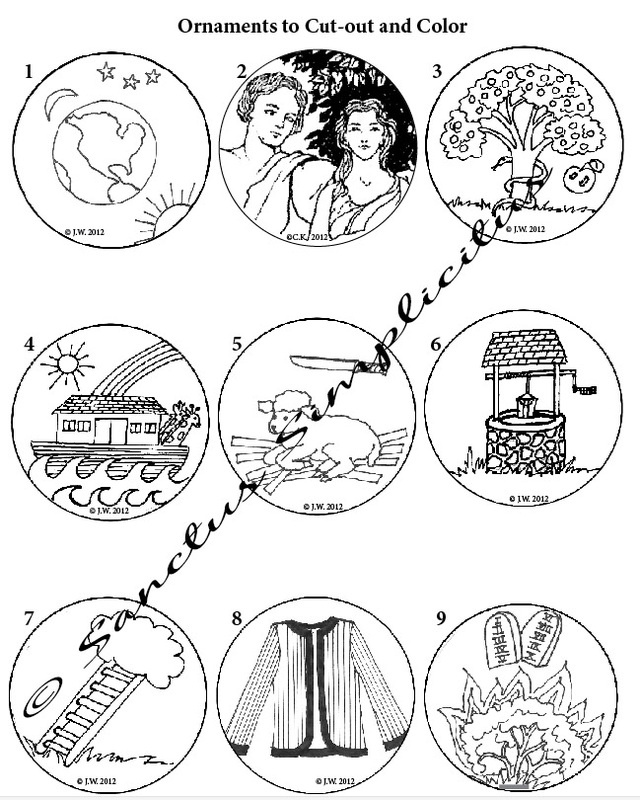 Search results for printable mini ornaments to color free for Jesse tree ornament templates
