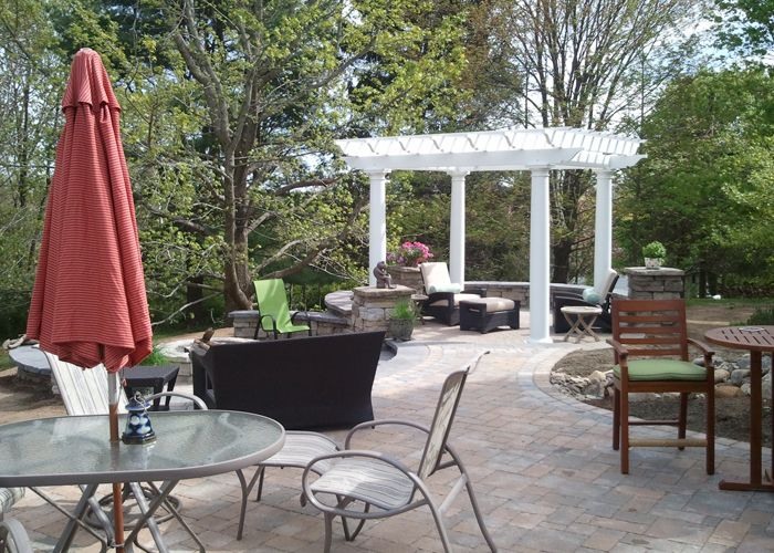 Multi Tiered Backyard : Bahler bros  multi tier patio  Outdoor  Pinterest