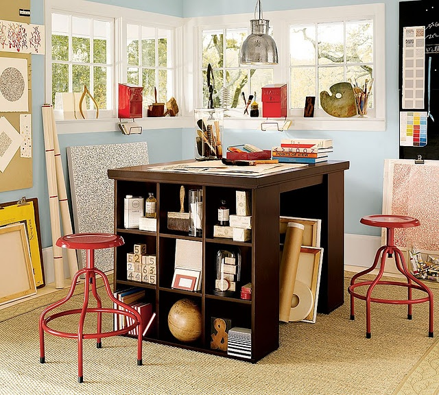 how to make a pottery barn craft table home ideas. Black Bedroom Furniture Sets. Home Design Ideas