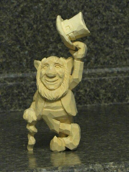 Leprechaun carvings pinterest