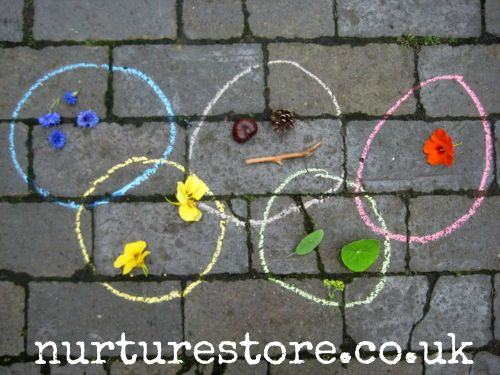 Olympic theme ring games for kids - fun action games and treasure hunt ideas.