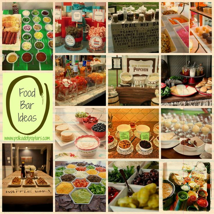 food bar ideas polka dot poplars pinterest