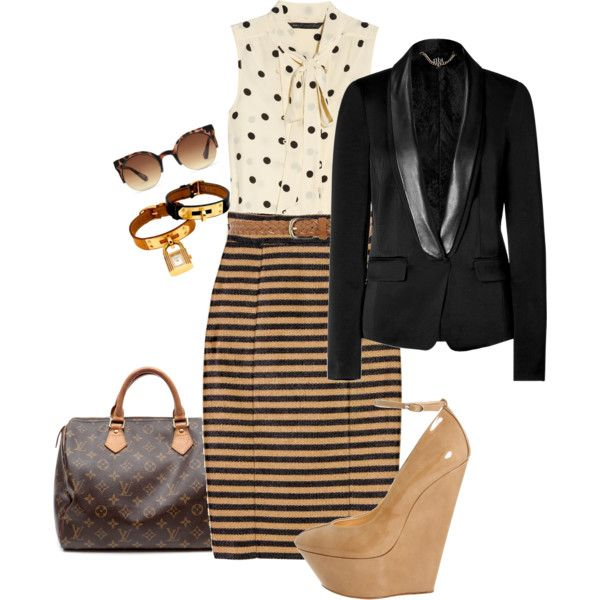 I bought a skirt just like this yesterday and a black blazer.