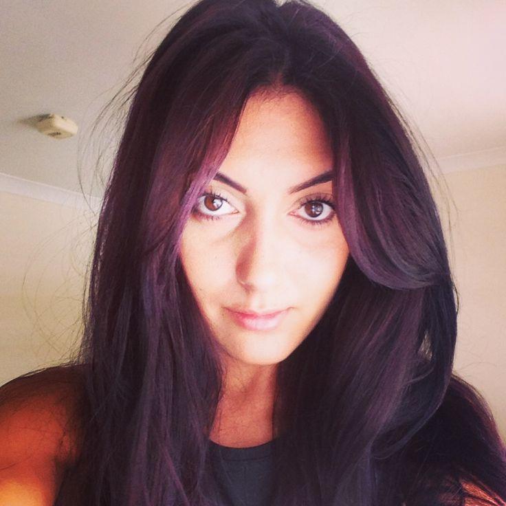 Aveda hair salon = plum hair colour