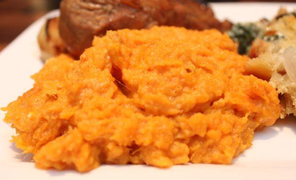 Roasted Garlic Sweet Potato Mash   Recipe
