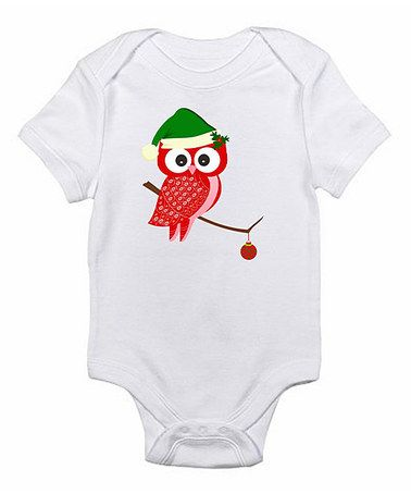 White Red Owl Bodysuit - Infant by Love you a Latte on #zulily