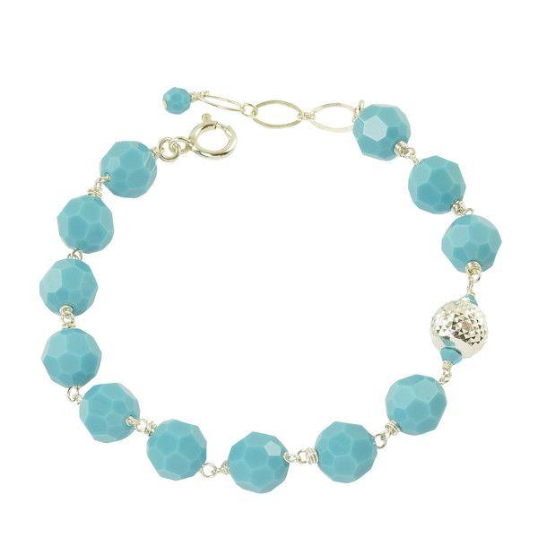 december birthstone swarovski bracelet turquoise