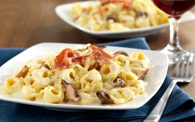 BARILLA Three Cheese Tortellini with Prosciutto and Wild Mushroom ...