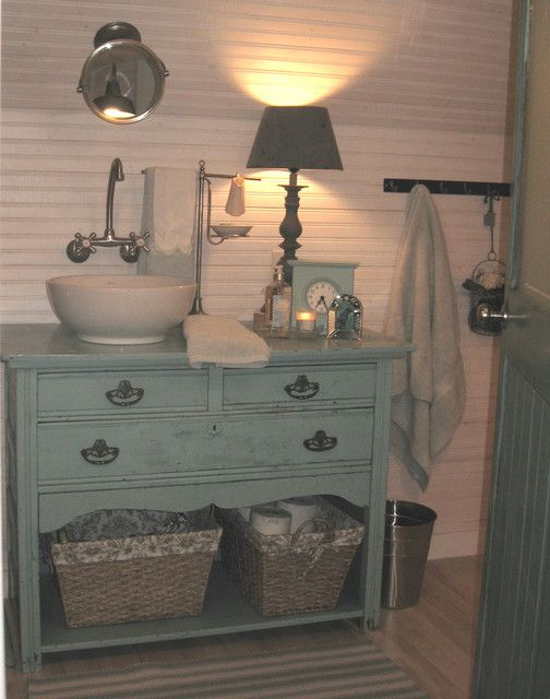 Repurposed Cabinet Vanity Laundry Room Country Bath And Foyer Ideas Pinterest