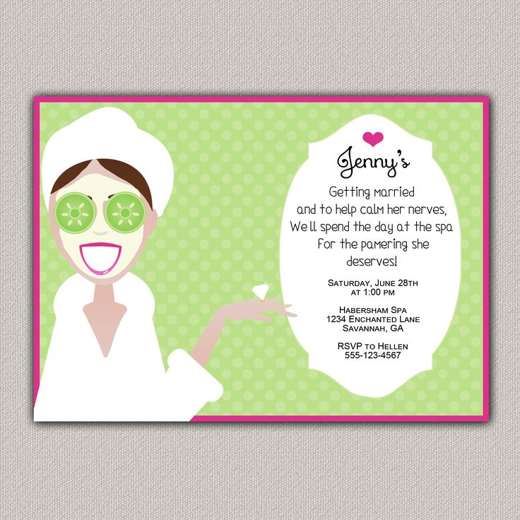 Pamper Party Invitations is awesome invitation layout