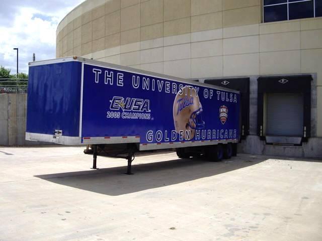 University of Tulsa Golden Hurricane - equipment transporter for away football games
