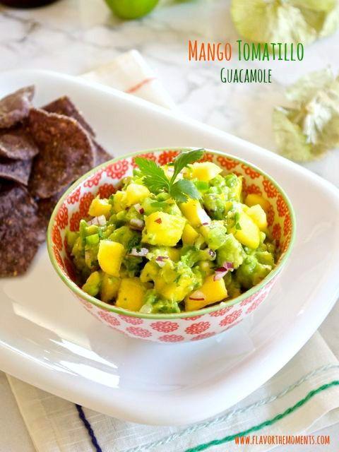 Mango Tomatillo Guacamole | Fat Kid at Heart | Pinterest