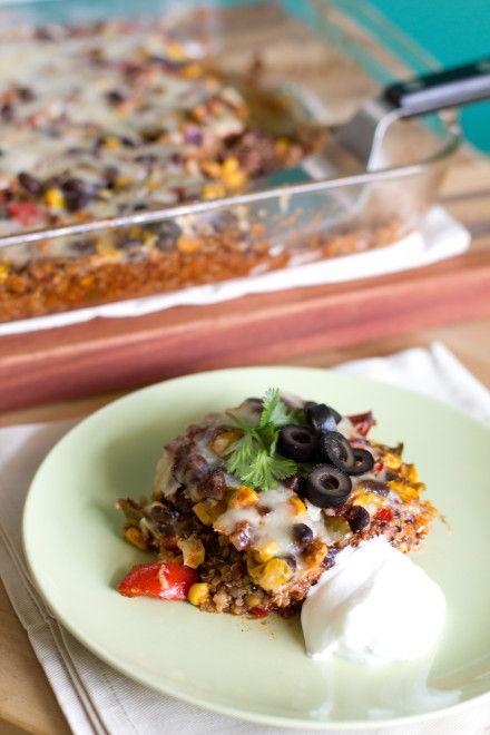 Vegetable Enchilada Casserole. Super healthy for you.