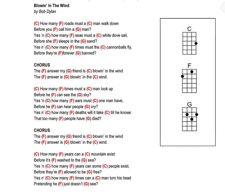 Blowin in the wind lyrics and chords k--y.top 2018