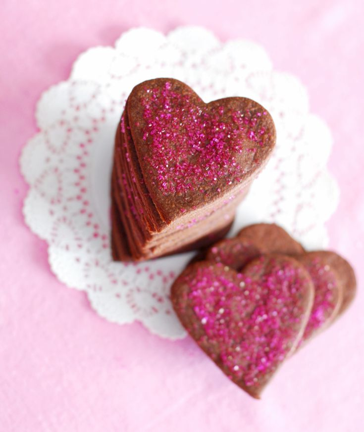 delicious inspiration.: Brownie Heart Roll-Out Cookies.