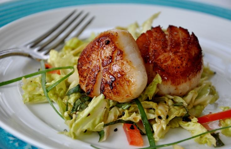 Scallops with Thai Slaw | Seafood Lady: Sustainable. Recipes. News ...