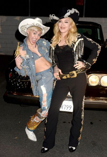 miley and madonna 2014