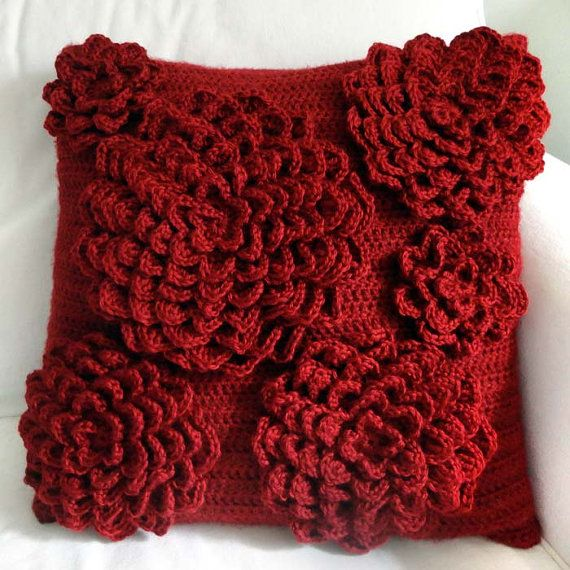 ... www.etsy.com/listing/155522417/multi-flower-pillow-cover-pdf-crochet
