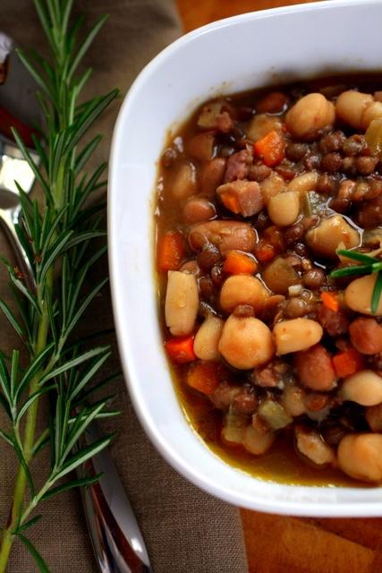 spicy bean & pancetta soup | soups | Pinterest