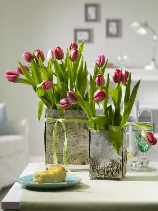 Red Tulip Centerpieces : Pink tulip centerpieces j adore tulips pinterest