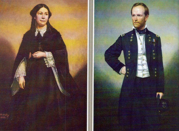 Sherman And His Wife Ellen Ewing William Tecumseh Sherman Pinter